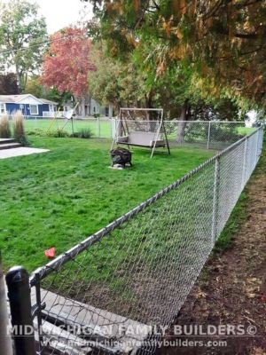 Mid Michigan Family Builders Chain Link Fence Project 10 2020 01 03