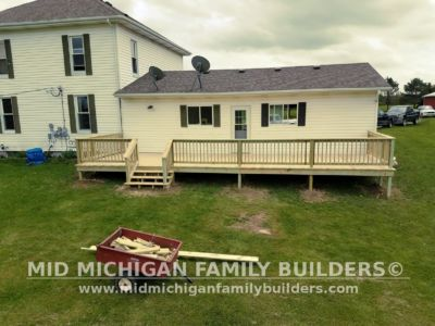 Mid Michigan Family Builders Deck Project 05 21 2018 03