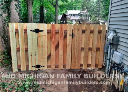 Mid Michigan Family Builders New Fence Project 07 2021 04 03