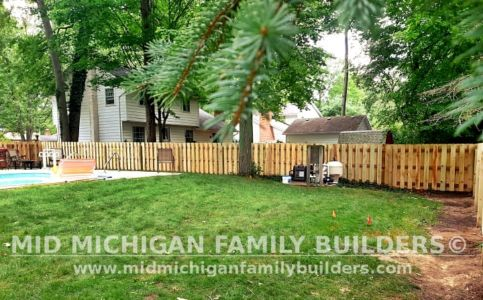 Mid Michigan Family Builders New Fence Project 07 2021 04 06