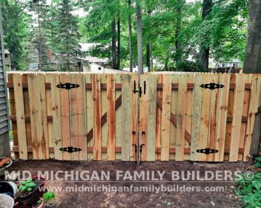 Mid Michigan Family Builders New Fence Project 07 2021 04 08