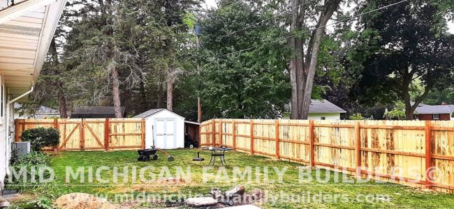 Mid Michigan Family Builders New Fence Project 08 2021 05 03