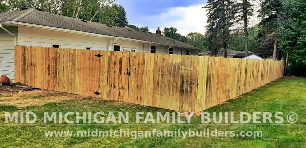 Mid Michigan Family Builders New Fence Project 08 2021 05 05