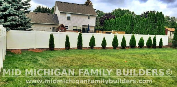 Mid Michigan Family Builders New Fence Project 08 2021 07 01