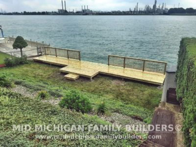 Mid Michigan Family Builders Seawall Deck Project 07 2020 02 02
