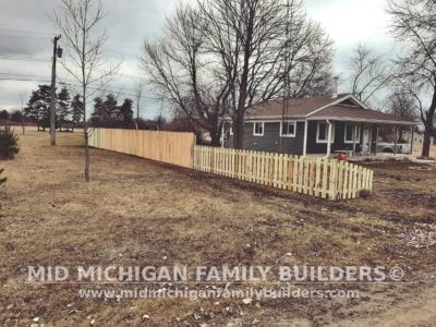 Mid Michigan Family Builders Wooden Fence Project 03 2020 01 04