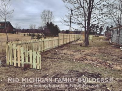 Mid Michigan Family Builders Wooden Fence Project 03 2020 01 05