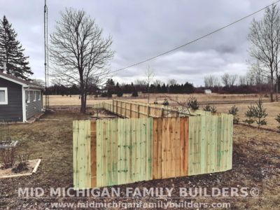 Mid Michigan Family Builders Wooden Fence Project 03 2020 01 07
