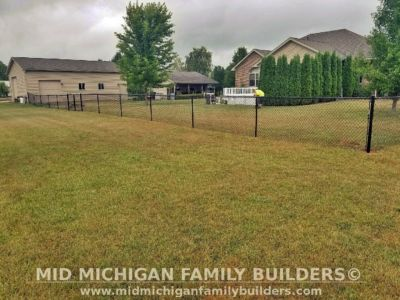 Mid Michigan family Builders Chain Link Fence Project 07 2020 03 02
