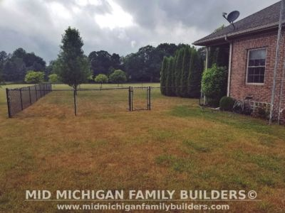 Mid Michigan family Builders Chain Link Fence Project 07 2020 03 03