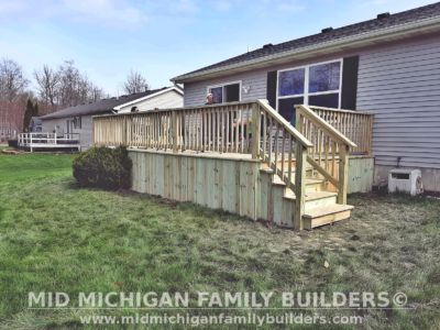 Mid Michigan family Builders Deck project 05 2020 01 01