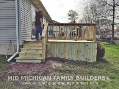 Mid Michigan family Builders Deck project 05 2020 01 03